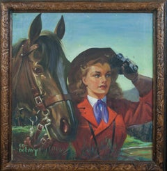 The Explorer oil on canvas by Ed DeLavy