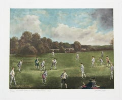 A Cricket Match at Mary-le-Bone Fields by Lawrence  Josset