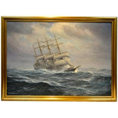 The Windjammer Pisacua in Rough Seas