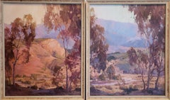 "Anita Hampton Landscape Paintings ""Sunrise"" and ""In Early Spring"""