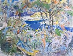 "Neil Brooks ""Dog Beach"" Landscape Painting"