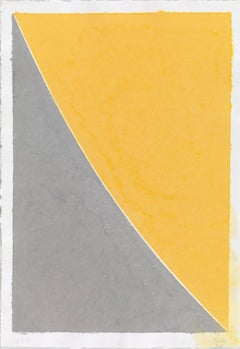 Colored Paper Image VII (Yellow Curve with Gray)