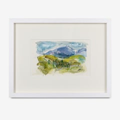 Mixed Media Painting 'Near Oldshoremore 2' by Artist William Watson-West.
