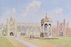 Derek Abel Trinity College Cambridge Great Court watercolour University England