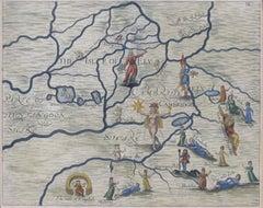 Michael Drayton 1622 Cambridgeshire Map for Poly-Olbion original antique vintage