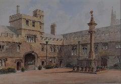 Magdalen College Oxford watercolour Francis Philip Barraud RA painting art