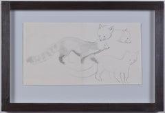 Clifford Ellis Red Panda Chico pencil sketch Modern British Art Wildlife animal