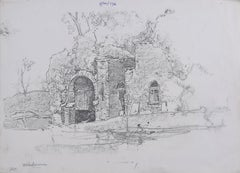 Oliver Hall RA Boat House Windermere Lake District Drawing Modern British Art