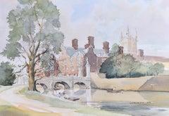 R Winton Aldridge St John's College Cambridge watercolour painting
