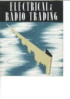 Art Deco Gouache Design Electrical & Radio Trading ERT c.1930s Early Wireless