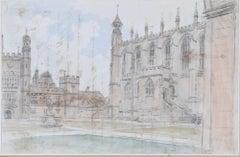 Dr William Crotch 1832 Eton College Chapel watercolour Public School Windsor