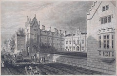 E Challis Sidney Sussex College Cambridge engraving Sidney Street print