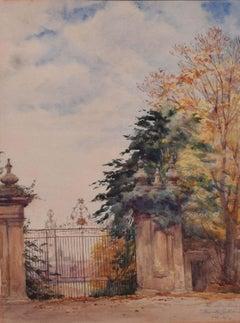 Trinity Gateway Oxford Alan Dashwood Watercolour