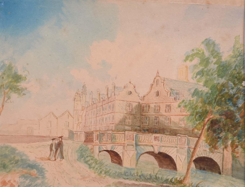St John's College Cambridge Kitchen Bridge c. 1800 University Wren (of Sighs)