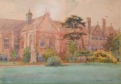 Wadham College Oxford Watercolour C.1900