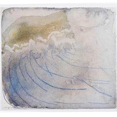Norman Adams RA Abstract Modern British Watercolour The Sound of Scarp (c.1980)