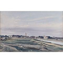 Claude Muncaster 'North Norfolk Churches'  Signed Watercolour Modern British Art