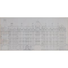 Design for the Midland Hotel, Manchester Architectural Drawing Railway Hotel