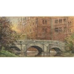 Anon. Wren Bridge St John's College, Cambridge, c.1875 watercolour