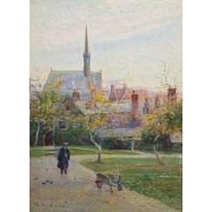 William Matthison, Trinity College Quad with Exeter College Chapel, Oxford