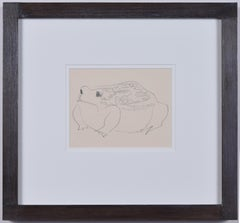 Clifford & Rosemary Ellis Toad Sketch in Ben Nicholson Frame New Naturalists