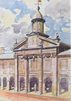 Edwin La Dell Emmanuel College Cambridge watercolour Mid Century Modern British
