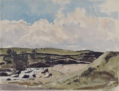 Claude Muncaster Beck at Shap Wells Cumbria UK Watercolour Modern British Art