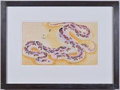 Clifford & Rosemary Ellis Snake Watercolour  Ben Nicholson Frame New Naturalists