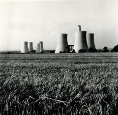 Rosemary Ellis Cooling Towers Silver Gelatin Photograph Print Surreal electric