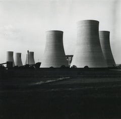 Rosemary Ellis Cooling Towers II Silver Gelatin Print Photograph for Pipes Wires