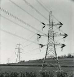 Rosemary Ellis Wires II Gelatin Silver Photograph for book: Pipes and Wires