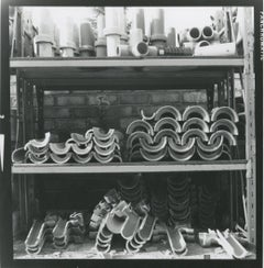 Rosemary Ellis Pipes VII Gelatin Silver Print for book: Pipes and Wires