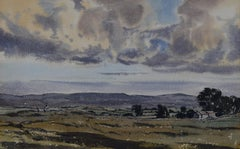 Claude Muncaster Landscape View UK Watercolour Modern British Art