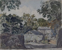 Claude Muncaster A Farmstead and Trees 1921 Watercolour Modern British Art