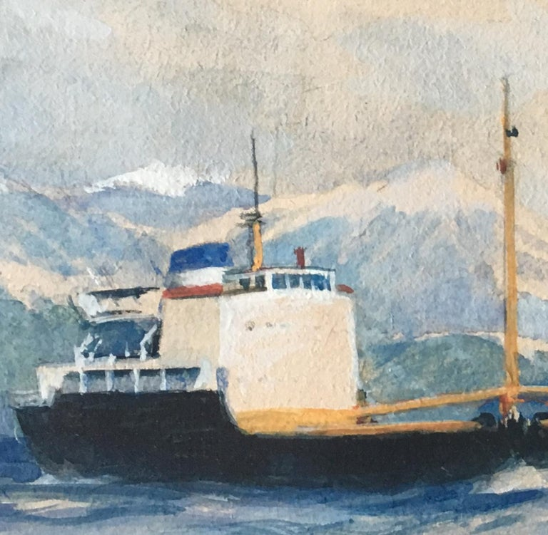 Laurence Dunn Otra painting maritime art ship boat coastal  shipping - Realist Art by Laurence Dunn