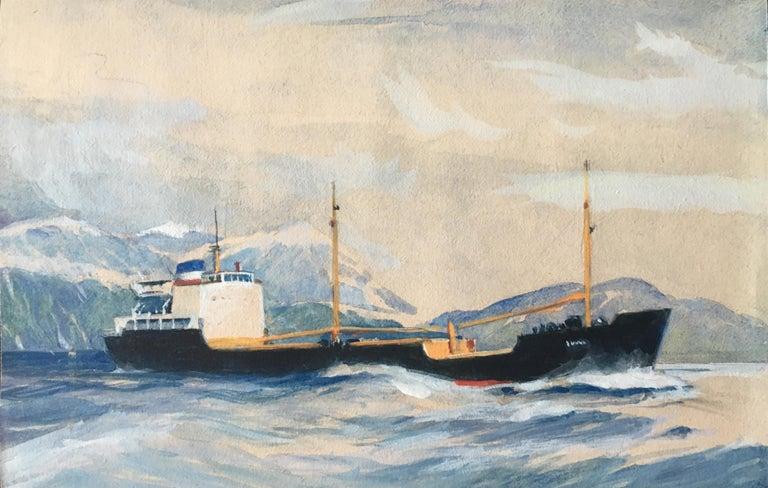 Laurence Dunn Otra painting maritime art ship boat coastal  shipping - Art by Laurence Dunn