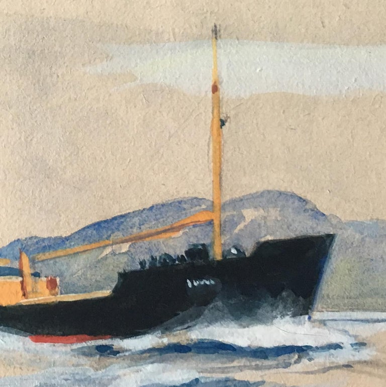 Laurence Dunn (1910-2006) Otra Gouache 11.5x18cm Inscribed to reverse 'Rough sketch for painting of