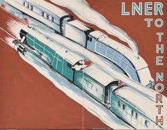 LNER Railway Art Deco original gouache design advertising poster