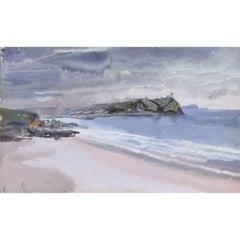 Clifford Ellis Teignmouth UK Beach Scene c1947 watercolour Cat 35