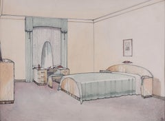 Design for Bedroom Furniture. 1930s for George M Hammer designers, London UK
