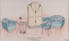 Design for Lounge Furniture. 1929 for George M Hammer designers, London UK