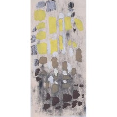 Clifford Ellis Autumn in Yellow and Brown: mid-century abstract gouache painting