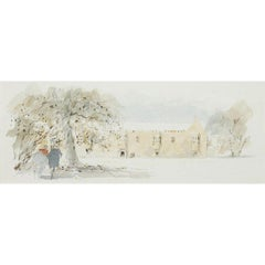 Hugh Casson St John's College Oxford watercolour University Quadrangle
