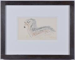 Clifford Ellis Deer pencil sketch Modern British Art Wildlife animal