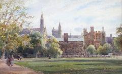 William Matthison Balliol College Oxford University Quadrangle watercolour