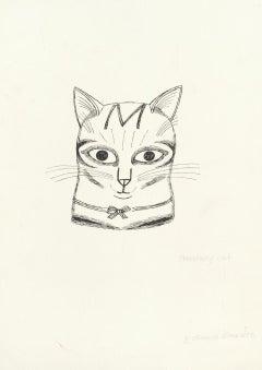 Edward Bawden drawing 'Secretary Cat' Pen and Ink Modern British Art kitten