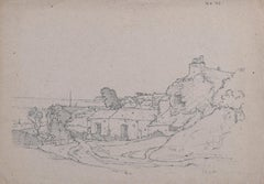 Claude Muncaster Canal Foot Ulverston Canal Morcambe Lancashire Pencil Sketch