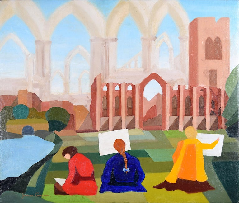 James Gowan FRIBA Fountains Abbey Modernist Architect Leicester Engineering - Painting by James Gowan