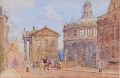 William Matthison Old Clarendon Building and Sheldonian Oxford watercolour