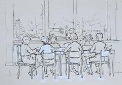 Peter Collins ARCA The Schoolroom sketch c. 1950s